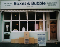 The Boxes & Bubbles Shop on Fulham Palace Road